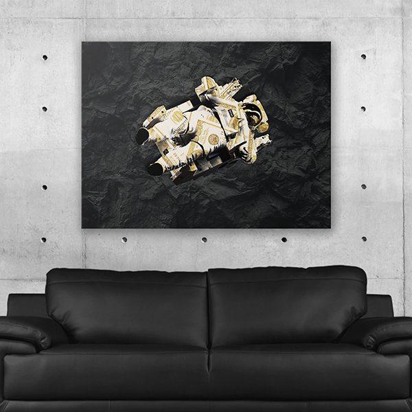 Money Astronaut Wall Art