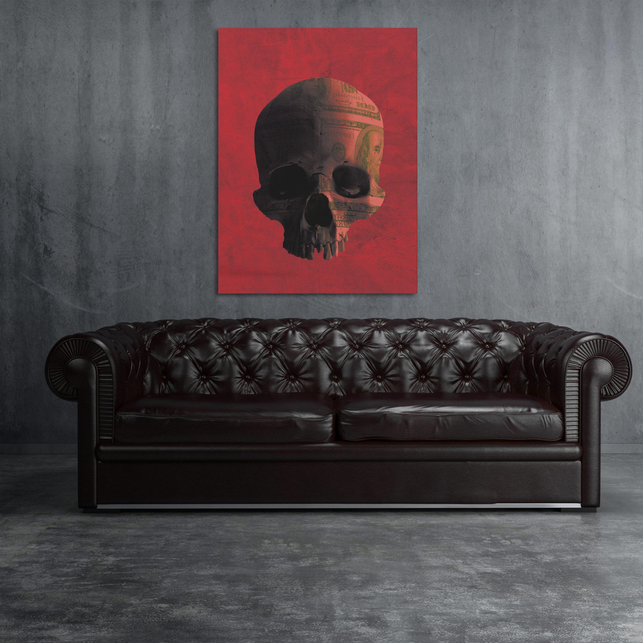 Money Skull Canvas Art Money Art Wall Decor Knvs